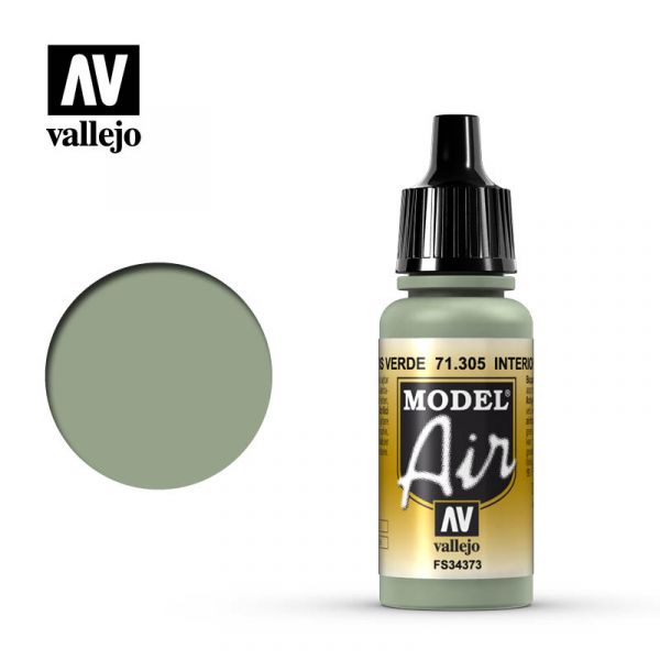 西班牙 Vallejo AV水性漆 Model Air 71305 室內灰綠色 17ml
