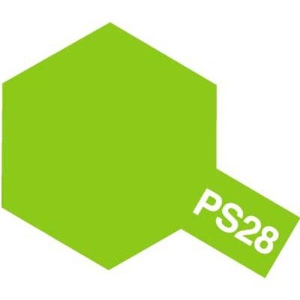 田宮 TAMIYA  PS-28 螢光綠色 噴罐 (新配方 耐撞擊、高延展性 ) <硝基漆/100ml>