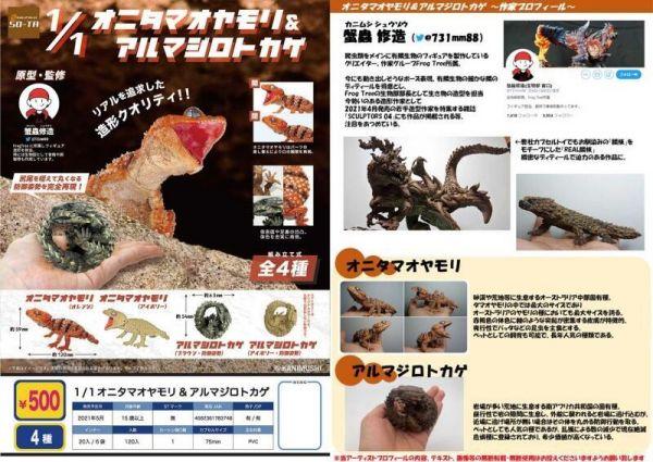 SO-TA盒玩 環保轉蛋 1/1鬼玉尾守宮與犰狳蜥 一中盒全4種