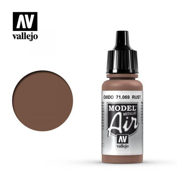 西班牙 Vallejo AV水性漆 Model Air 71069 氧化鐵色(金屬色) 17ml