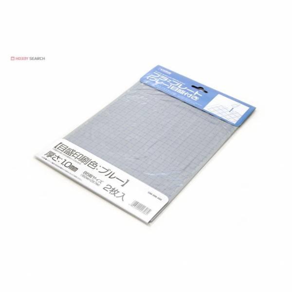 wave OM-308 塑膠藍線刻度改造版 灰色 B5大小 厚度1.0mm <2枚入>