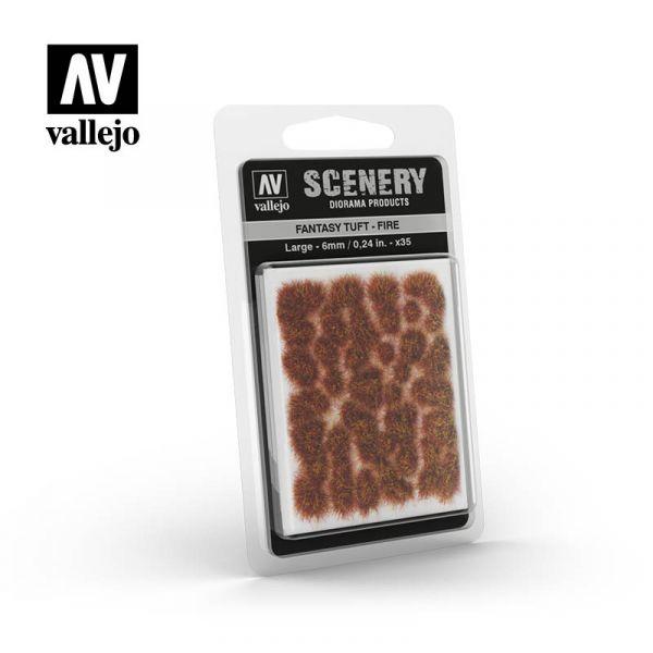 西班牙 Vallejo AV #SC431 Scenery-Wild Tuft- 火焰草叢 6mm
