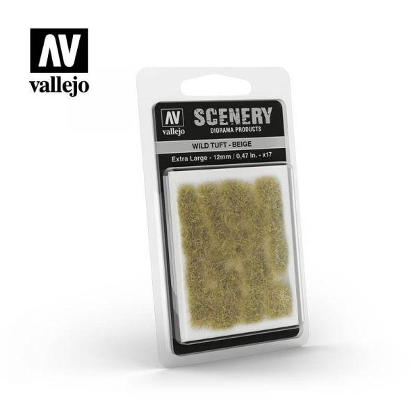 西班牙 Vallejo AV #SC429 Scenery-Wild Tuft- 米色草叢 12mm