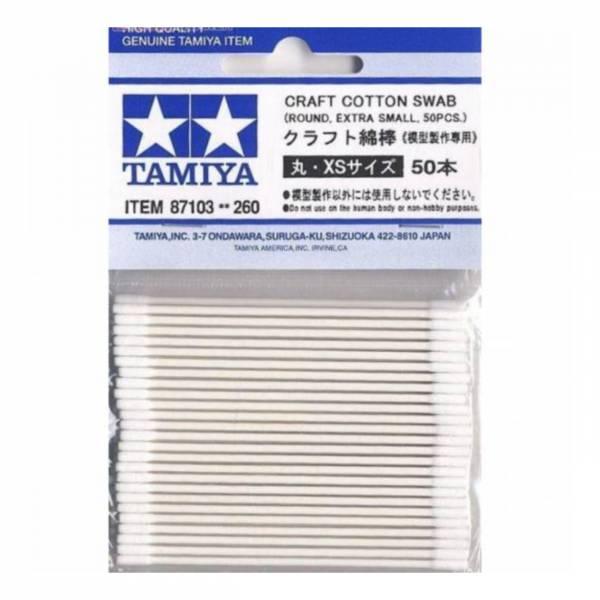 田宮 TAMIYA 87103 模型專用棉棒 圓形 尺寸xs 50入