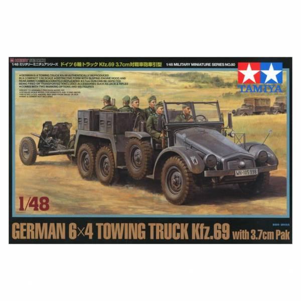田宮 TAMIYA 32580 1/48 MM No.80 德國6輪Kfz.69牽引車+3.7cm對戰車炮 組裝模型