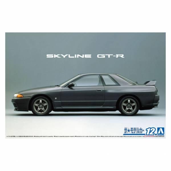 青島社 AOSHIMA 1/24 汽車模型 模型車 No.12 061435 日產 Skyline BNR32 GT-R '89 組裝模型 AOSHIMA 1/24 閃電霹靂車 阿斯拉 AKF-0/G LIFTING TURN模式