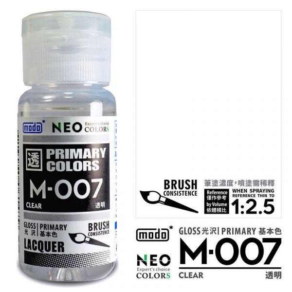 摩多製漆所 MODO M-007 透明 筆塗用濃度 30ml <新配方新包裝>
