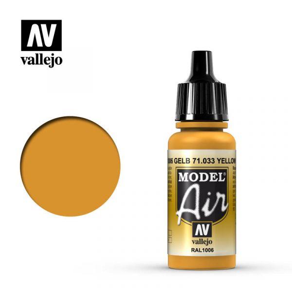 西班牙 Vallejo AV水性漆 Model Air 71033 黃赭石色 17ml