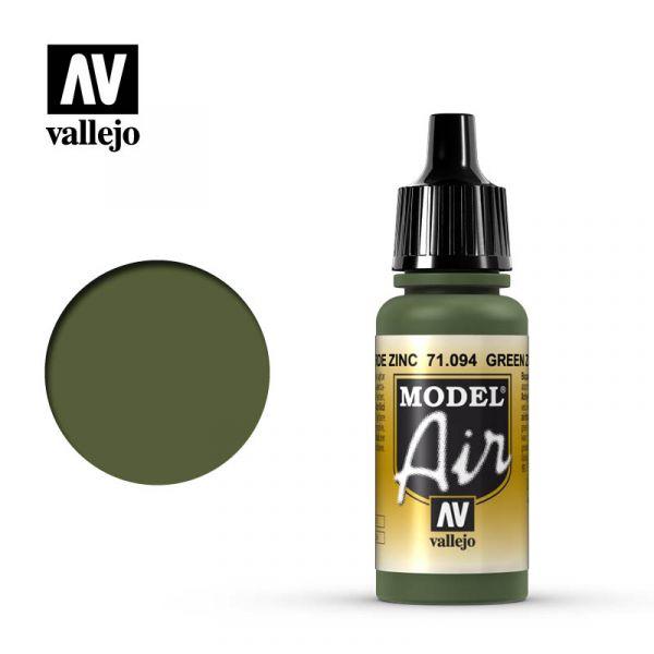 西班牙 Vallejo AV水性漆 Model Air 71094 鋅鉻酸鹽綠色 17ml