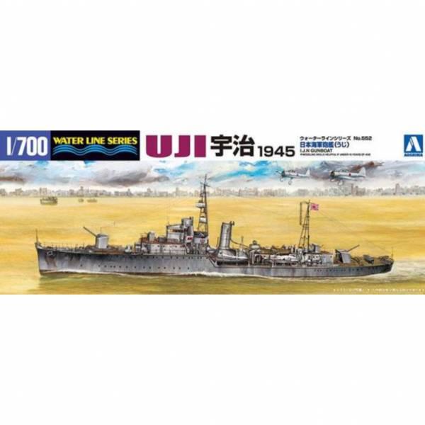 青島社 AOSHIMA #003695 1/700 WL#552 日本海軍 砲艦 宇治 組裝模型