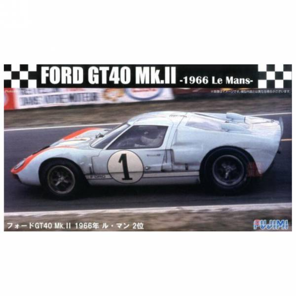 富士美 FUJIMI 1/24 #126043 RS32 Ford GT40 Mk-II 1966 利曼賽道