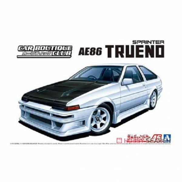 青島社 AOSHIMA 1/24 汽車模型 改裝車 No.45 058633 豐田 AE86 TRUENO '85 組裝模型 AOSHIMA 1/24 閃電霹靂車 阿斯拉 AKF-0/G LIFTING TURN模式