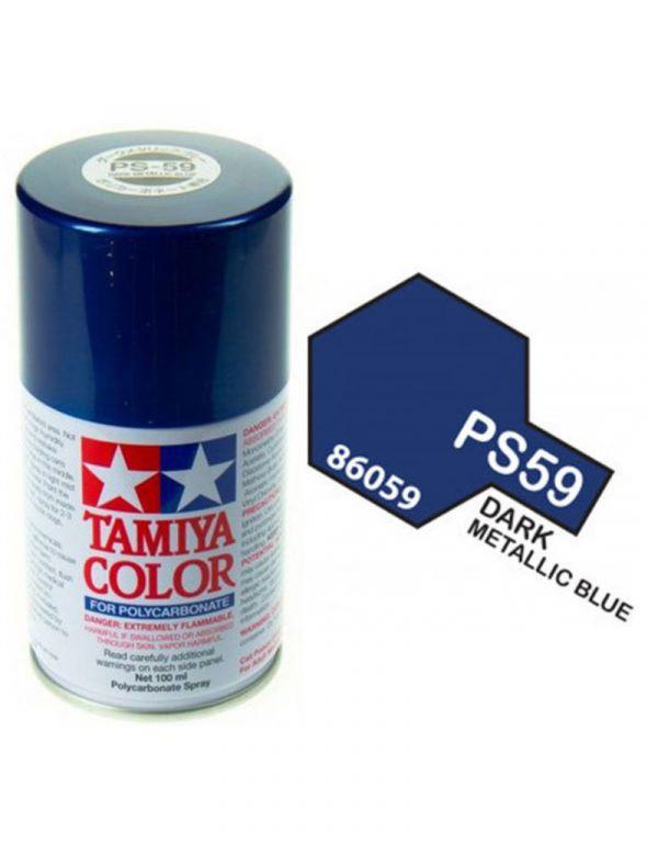 田宮 TAMIYA PS-59 深金屬藍色 噴罐 (新配方 耐撞擊、高延展性 ) <硝基漆/100ml>