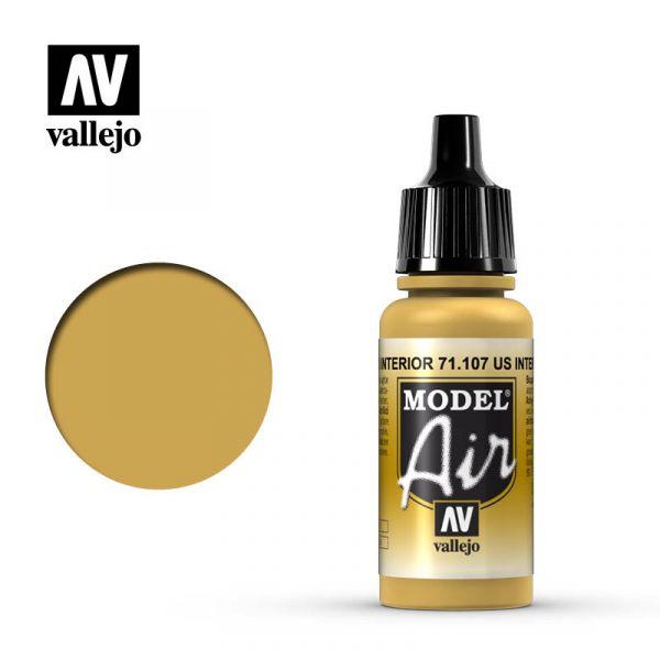 西班牙 Vallejo AV水性漆 Model Air 71107 美國室內黃色 17ml