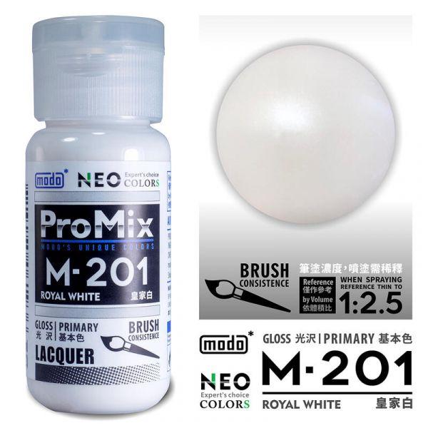 摩多製漆所 MODO M-201 皇家白 筆塗用濃度 30ml <新配方新包裝>