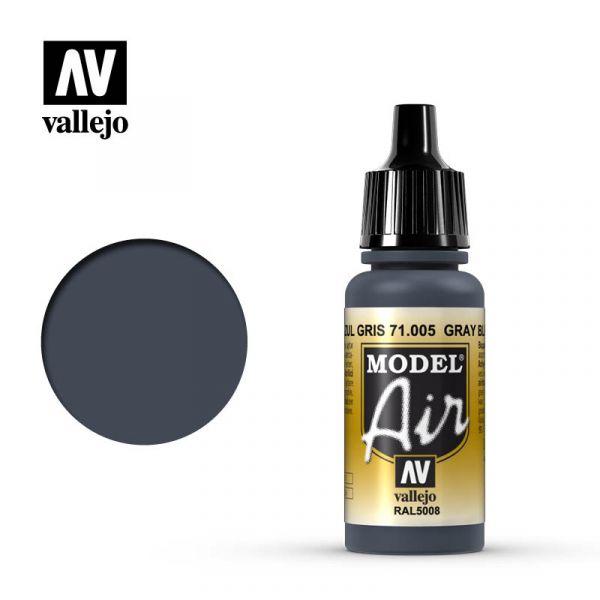 西班牙 Vallejo AV水性漆 Model Air 71005 灰藍色 17ml