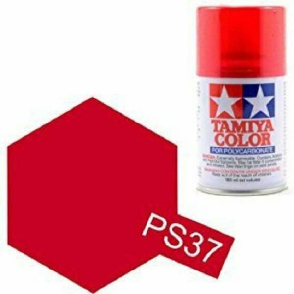 田宮 TAMIYA  PS-37 半透明紅色 噴罐 (新配方 耐撞擊、高延展性 ) <硝基漆/100ml>