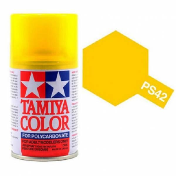 田宮 TAMIYA  PS-42 半透明黃色 噴罐 (新配方 耐撞擊、高延展性 ) <硝基漆/100ml>