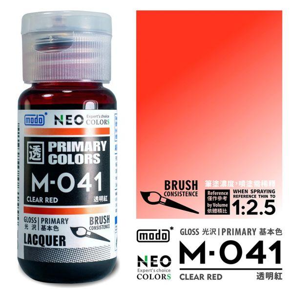 摩多製漆所 MODO M-041 透明紅 筆塗用濃度 30ml <新配方新包裝>