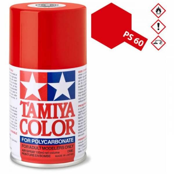 田宮 TAMIYA PS-60 光澤雲母紅色 噴罐 (新配方 耐撞擊、高延展性 ) <硝基漆/100ml>