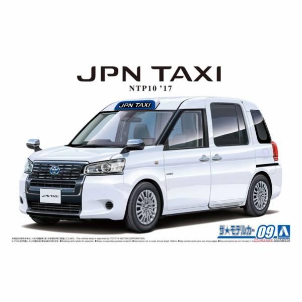 青島社 AOSHIMA 1/24 汽車模型 模型車 No.09 057124 豐田 NTP10 JPN 計程車'17 超白II 組裝模型 AOSHIMA 1/24 閃電霹靂車 阿斯拉 AKF-0/G LIFTING TURN模式
