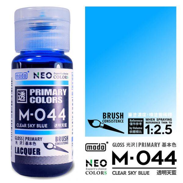 摩多製漆所 MODO M-044 透明天藍 筆塗用濃度 30ml <新配方新包裝>