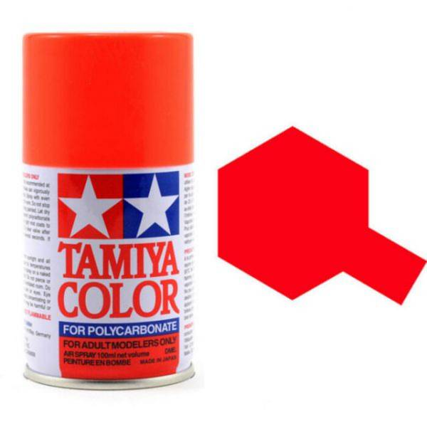 田宮 TAMIYA  PS-20 螢光紅色 噴罐 (新配方 耐撞擊、高延展性 ) <硝基漆/100ml>