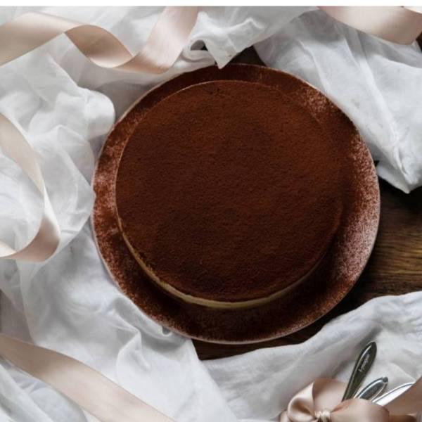 40度白蘭地提拉米蘇 6 吋 微醺甜點,白蘭地慕斯