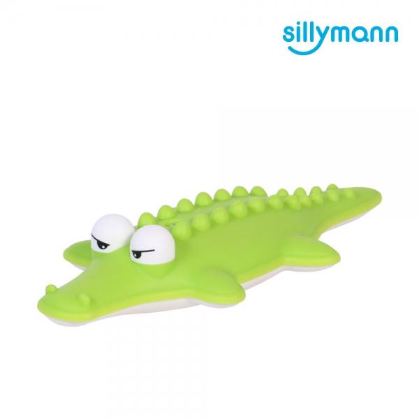 【韓國sillymann】 100%鉑金矽膠小鱷魚洗澡玩具