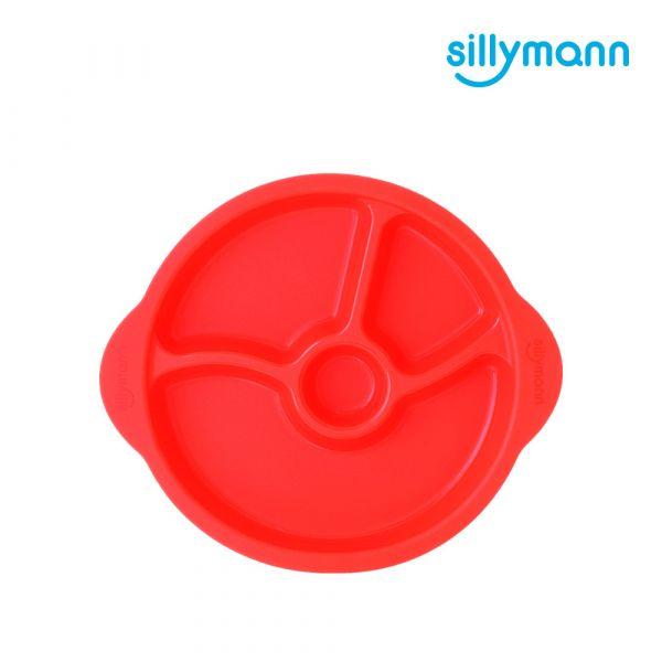 【韓國sillymann】 100%鉑金矽膠防滑幼兒學習餐盤(紅)