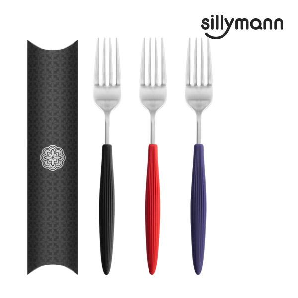 【韓國sillymann】 100%鉑金矽膠精品手感叉子
