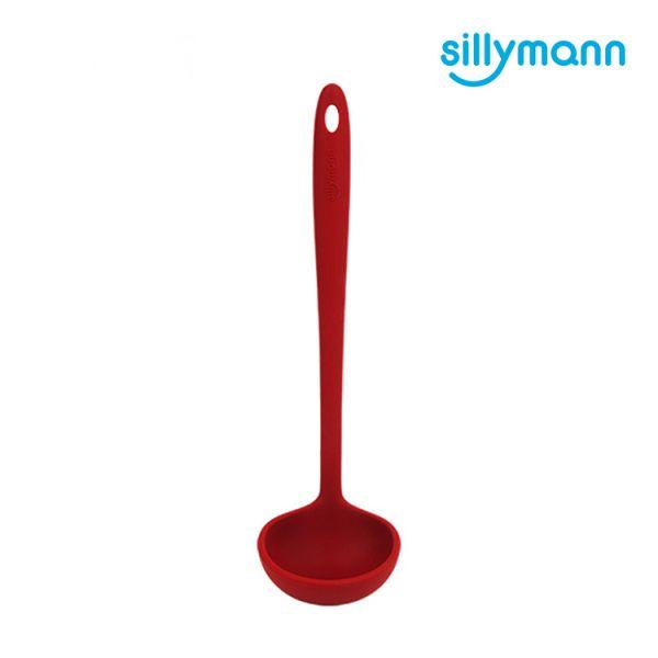【韓國sillymann】 100%鉑金矽膠精品一體成型湯勺(紅)