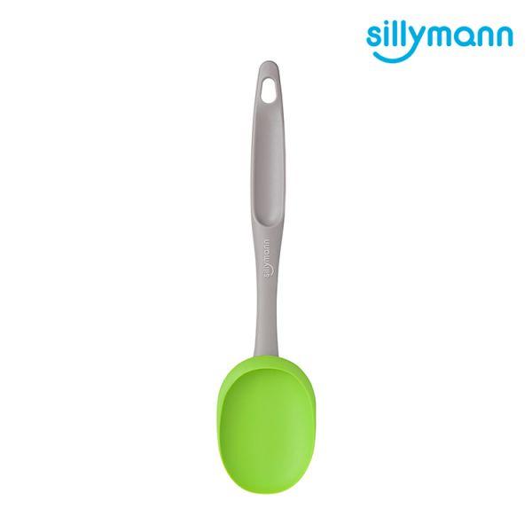 【韓國sillymann】 100%鉑金矽膠長柄攪拌炒勺(綠)
