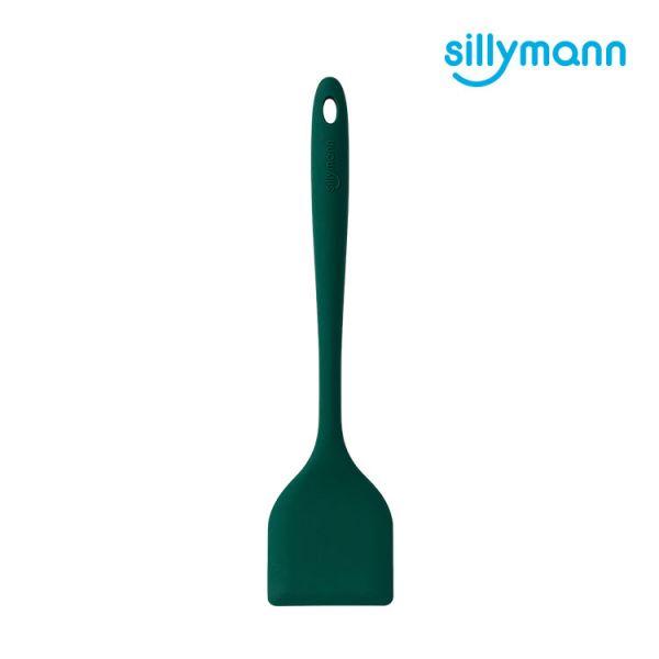 【韓國sillymann】 100%鉑金矽膠精品一體成型長柄煎鏟(小松綠)