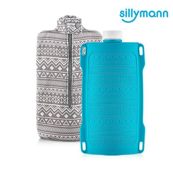 【韓國sillymann】100%鉑金矽膠保溫水瓶/水袋700ml(藍)