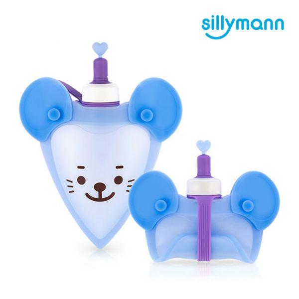 【韓國sillymann】 100%鉑金矽膠老鼠水袋-250ml(藍)