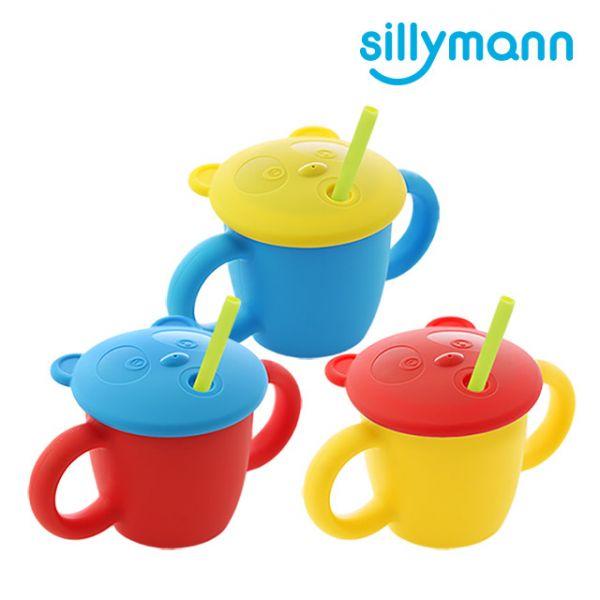 【韓國sillymann】100%鉑金矽膠 兒童專用雙手握把喝水學習杯(220ml)