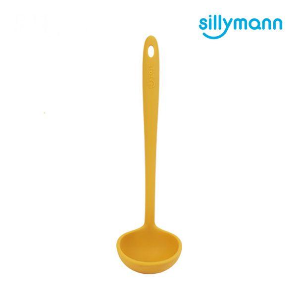 【韓國sillymann】 100%鉑金矽膠精品一體成型湯勺(黃)