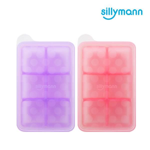 【韓國sillymann】 100%鉑金矽膠副食品分裝盒(6格)