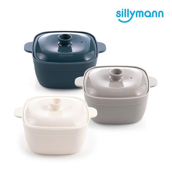 【韓國sillymann】100%鉑金矽膠方形蒸蛋鍋(電鍋/烤箱/氣炸鍋/微波爐專用)