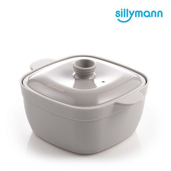 【韓國sillymann】100%鉑金矽膠方形蒸蛋鍋(電鍋/烤箱/氣炸鍋/微波爐專用)(可可灰)