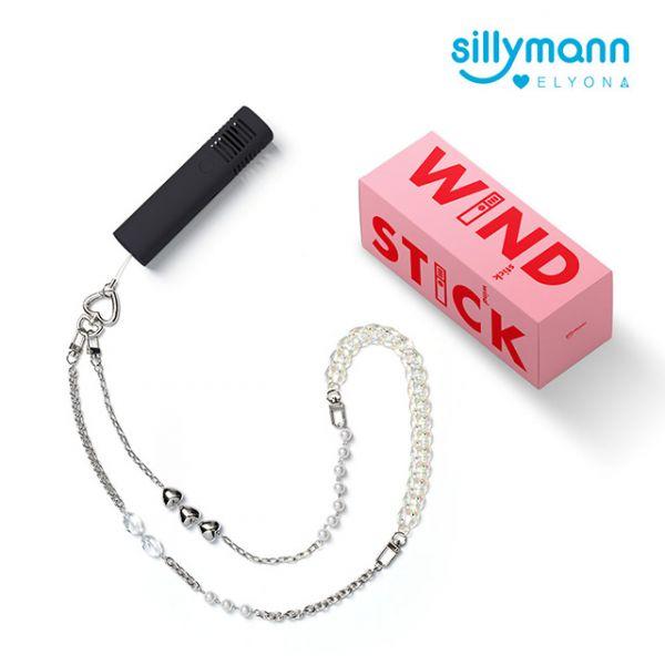 【韓國sillymann】攜帶型風棒電扇+ELYONA 飾品背鏈(黑)