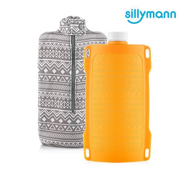 【韓國sillymann】100%鉑金矽膠保溫水瓶/水袋700ml(黃)