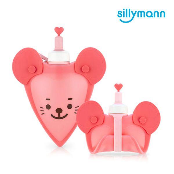 【韓國sillymann】 100%鉑金矽膠老鼠水袋-250ml(粉)