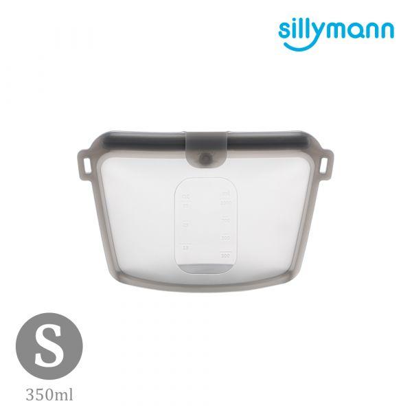 【韓國sillymann】 100%鉑金矽膠密封袋-350ml(灰黑)