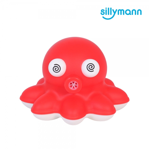 【韓國sillymann】 100%鉑金矽膠小章魚洗澡玩具