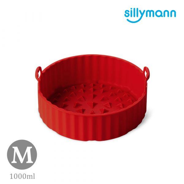 【韓國sillymann】 100%鉑金矽膠氣炸鍋烘烤籃M(紅)