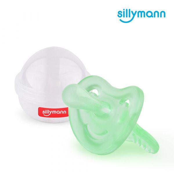 【韓國sillymann】 100%鉑金矽膠安撫奶嘴(4個月以上)(綠)