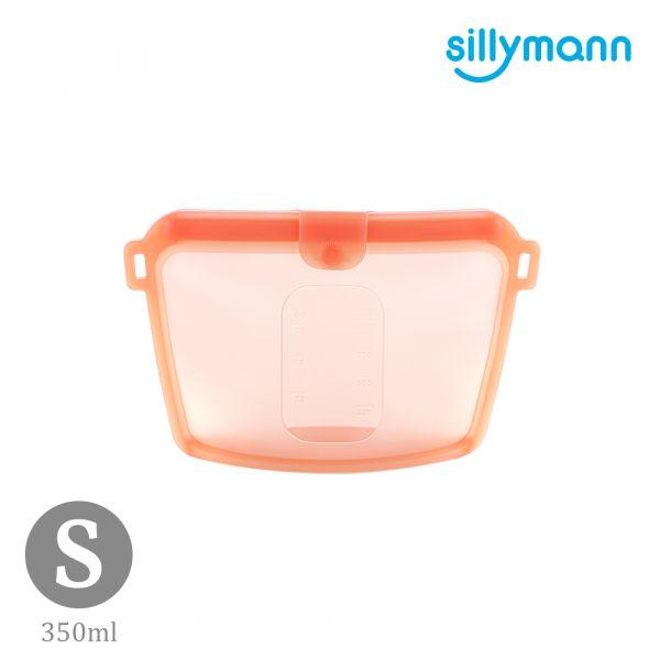 【韓國sillymann】 100%鉑金矽膠密封袋-350ml(橘紅)