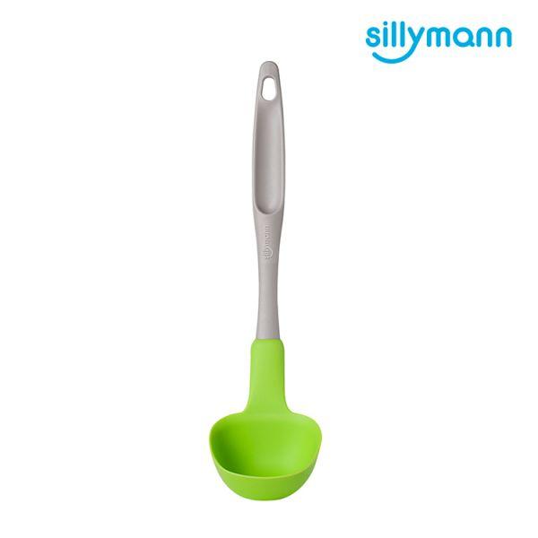 【韓國sillymann】 100%鉑金矽膠長柄湯勺(小)(綠)